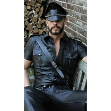 Mens Very Hot Genuine Leather Shirt