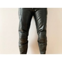 Motorcycle Rockstar High Waisted Genuine Black  Leather Biker Club Pants