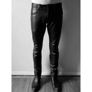 Premium Lightweight Genuine Black Leather Pants for Guys