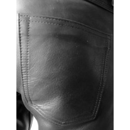 Premium Lightweight Genuine Black Leather Pants for Guys