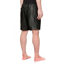 Simple Classic Fashion Black Leather Shorts for Men