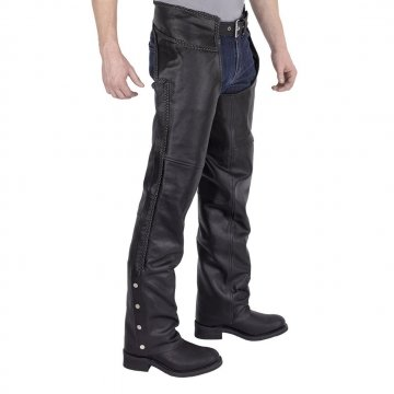 Stylish Fashion Braided Motorcycle Leather Chaps for Men