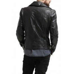 Stylish Hot Black Leather Motorcycle Biker Fashion Jacket