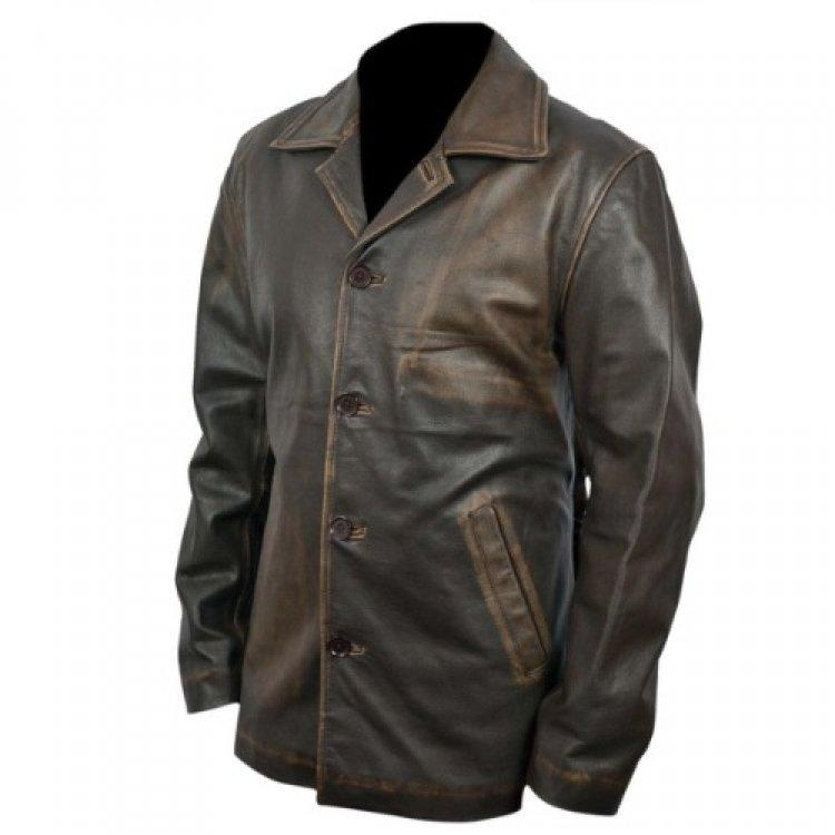 9de770829 Supernatural Dean Winchester Distressed Brown Long Leather Coat for Men