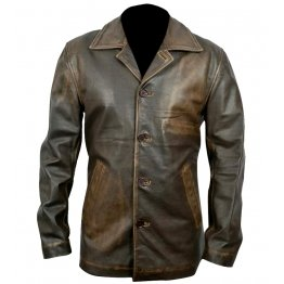 Supernatural Dean Winchester Distressed Brown Long Leather Coat for Men