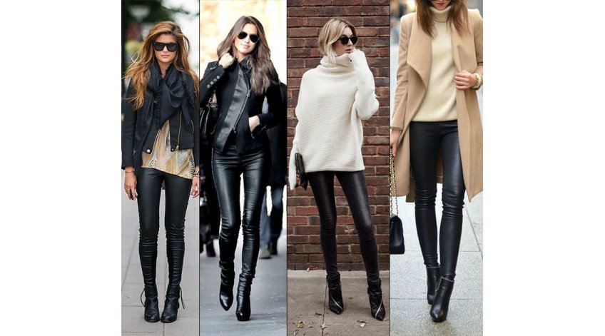 What to Wear with Black Leather Pants?