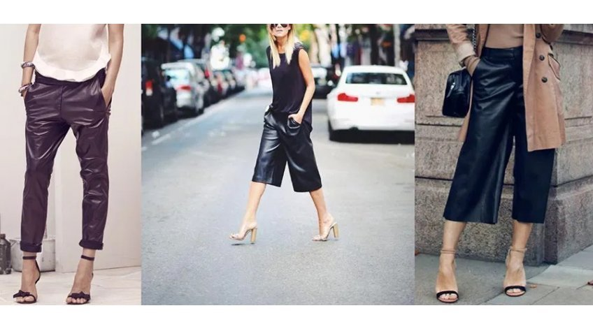 What to Wear with Leather Capri Pants?