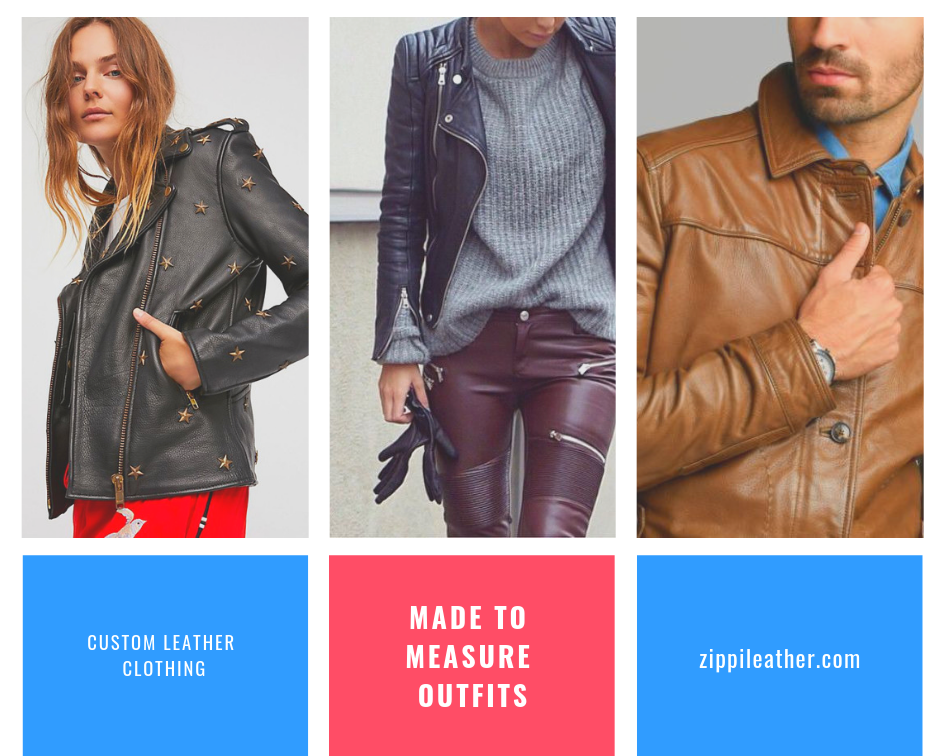 image for leather jacket and blazer in black and brown